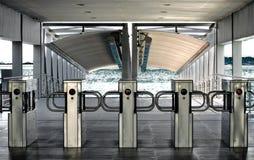 River station turnstiles Royalty Free Stock Images