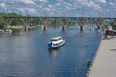River, steamship, bund Stock Photography