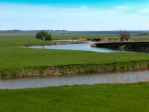 The river in the steppe Stock Image