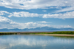 River in steppe. prairie Royalty Free Stock Photos