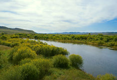 River in steppes of Transbaikalia Royalty Free Stock Photo