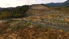 Steelhead Haven Oso Washington Mudslide Site Stillaguamish River stock video