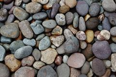 River Stone. S for the wall material or home material Stock Photo