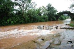 River with stone bridge Royalty Free Stock Photo