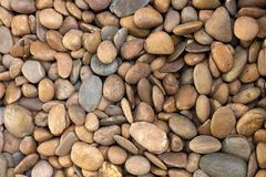 River stone or brown gravel Royalty Free Stock Images