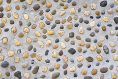River stone wall Royalty Free Stock Images
