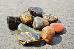 River stones. Gruop of stones on the ground Royalty Free Stock Photo