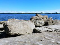 River stones closeup Stock Photo