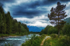 River in stordal Royalty Free Stock Images