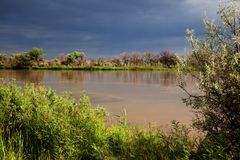 River after storm Royalty Free Stock Photography