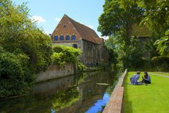 River Stour in Canterbury, UK Stock Photo