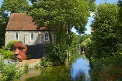River Stour in Canterbury, UK Royalty Free Stock Image