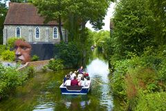 River Stour in Canterbury, UK Royalty Free Stock Photography