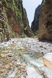 River stream through the Samaria Gorge Royalty Free Stock Photo