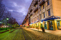 River Street in Savannah Royalty Free Stock Photos