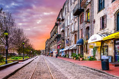 River Street in Savannah Royalty Free Stock Images