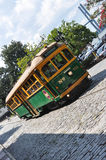 River Street streetcar in Savannah Stock Photo