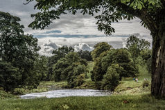 River strid near Bolton Abbey in yorkshire, England Stock Image