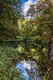 River strid near Bolton Abbey in yorkshire, England. UK Royalty Free Stock Photography