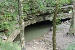 River Styx, Kentucky. The site where the River Styx emerges from underground to join the Green River in Mammoth Cave National Park in Kentucky stock photos
