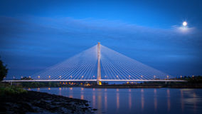 River Suir Bridge Waterford. In night royalty free stock photos