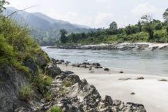 River in sun koshi, nepal Stock Photos