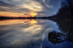 River Sunrise Stock Photography