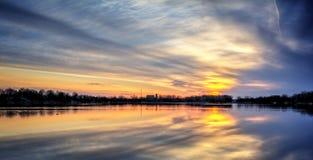 River Sunrise Royalty Free Stock Photos