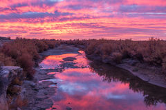 River Sunrise Stock Photography