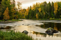 River in sunrise Royalty Free Stock Photos