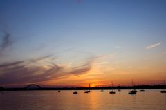 River Sunset. Beautiful sunset over the Delaware River, NJ Royalty Free Stock Images