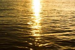 River sunset Stock Photo