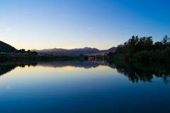 River at sunset Stock Photos