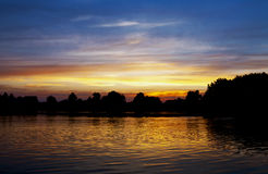 River sunset Royalty Free Stock Photos