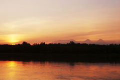 River sunset Royalty Free Stock Image