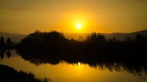 Free River Sunset Royalty Free Stock Photos - 48459858