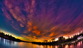 River and Sunset Royalty Free Stock Photo