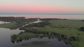 River Before Sunset From A Height