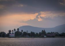 River at sunset in kampot cambodia. River at sunset in kampot south cambodia Royalty Free Stock Images