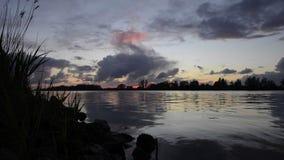 River sunset timelapse stock video