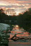 River Sunset at Van Cortlandt Park in the Bronx Royalty Free Stock Photography