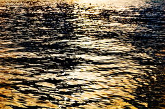 River surface in sunset. Photography of  Tisa river surfaca in sunset Stock Photo