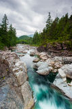 River on Sutton Pass, Vancouver Island Royalty Free Stock Photography