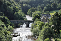 River Swale. The River Swale running past Richmond in North Yorkshire, England Royalty Free Stock Photography
