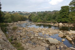 The river Swale at Richmond Royalty Free Stock Photos