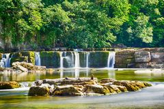 River Swale Waterfalls. At Richmond taken July 2018 royalty free stock photos