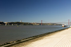 River Tagus in Lisbon Stock Photography