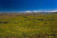 River-Tal-Berge blau Stockfoto