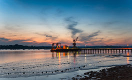 The River Tamar in Plymouth Stock Photo