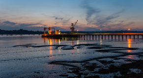 The River Tamar in Plymouth Royalty Free Stock Photo